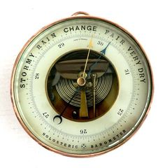 Finest quality antique holosteric barometer by famous Paul Naudet of Paris, France. Ca 1875