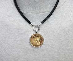 Cougar Mountain Lion Wildlife Medallion Pendant by GoodSpiritWolf
