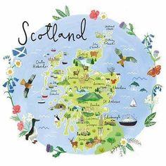 Scotland Map, Scotland Road Trip, Scotland History, Plymouth Map, Glasgow, Map Wedding Invitation, Blog Design, Travel Posters, Travel Inspiration