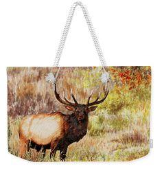 Painting: Free Roaming Bull Elk Watercolor