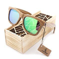 24.84$  Know more - BOBO BIRD Wood Sunglasses Brand Designer brown wooden sunglasses Style Square SunGlasses Gafas Oculos Masculino   #aliexpresschina
