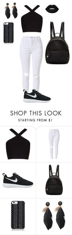 """preto e branco☺"" by miaafrodite ❤ liked on Polyvore featuring BCBGMAXAZRIA, NIKE, STELLA McCARTNEY, Savannah Hayes and Lime Crime"