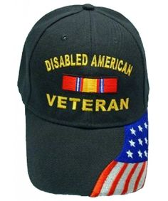 163f4a253c575a Disabled American Veteran BLACK Baseball Cap Military DAV Hat American Flag  CG11IFXQWOJ