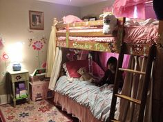 The room is really coming together. I found a pink bed canopy and some other things for the room at a resale store...I'll post pics of all the details as soon as I get a chance.