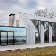 New Exterior Renovation Modern Converted Barn Ideas Exterior Wall Design, Exterior House Colors, Interior Exterior, Architecture Details, Modern Architecture, Alcacer Do Sal, Small Buildings, Modern Barn, Residential Architecture