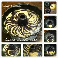 Wie Zebra Bundt Cake Make Tutorial
