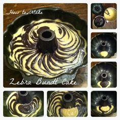 Wie Zebra Bundt Cake Make Tutorial