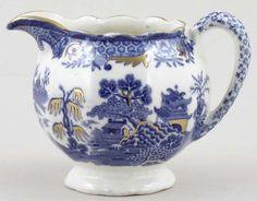 Creamer or Jug c1920s  Masons  Blue Chinese Landscape