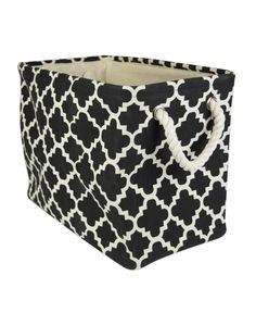 Polyester storage bins are a fun and creative way to organize and store toys, clothes, books, knick-knacks and more. These trendy bins have simple yet chic look and are dependable. The material and construction offer a long-lasting bin. Decorative Storage Bins, Storage Baskets, Storage Containers, Be Organized, Holiday Storage, Toy Organization, Organizing Toys, Black Rectangle, Large Black