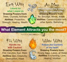 Which Element attracts you the most? Try Elemental Magic tonight!  One spell for…
