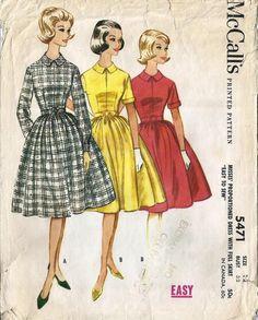 Vintage McCalls 5471, no buttons!