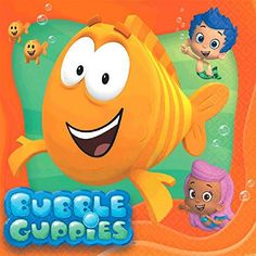 ~ Birthday Party Supplies NickJr BUBBLE GUPPIES HANGING SWIRL DECORATIONS 12pc