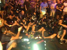 Mani en Madrid 15 de Julio 2012: Bomberos también en la protesta... esto se mueve