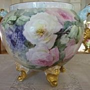 Magnificent Antique Limoges Footed ~Handled Huge  Jardiniere~