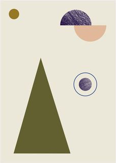 This minimalistic geometry poster will stand out on any wall. Hang it in Ferm Living's large wooden frames to make a unique decoration. Printed on 150 gr. uncoa