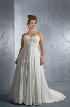 Plus Size Wedding Dresses | Empire Waist Plus Size Wedding Gowns - Darius Cordell Fashion Ltd
