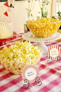 Popcorn Bar - I am definitely a popcorn lover!