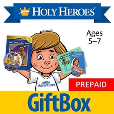 Holy Heroes Subscription: Ages 7 and under. Monthly delivery of Holy Heroes products!