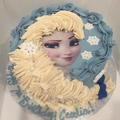 Elsa braid cake vanilla