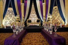 Regal Theme Indian wedding reception by Spotlight Vendor @gpsdecors