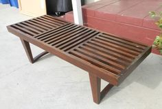 Los Angeles: Wood bench / Mid century style $120 - http://furnishlyst.com/listings/38489