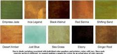 acid stain color chart - Bing images
