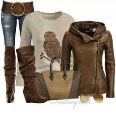 Not crazy about the owl but like the outfit