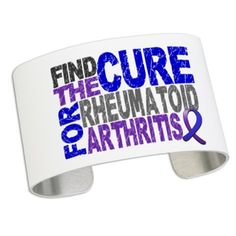 RA Find the Cure Cuff Bracelet