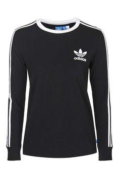 Photo 1 of Three Stripe Long Sleeve Top Adidas Originals