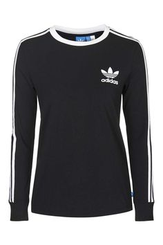Photo 1 of Three Stripe Long Sleeve Top Adidas Originals