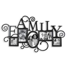 Antique Black Scroll Family 5-Opening Collage Frame - Bed Bath & Beyond