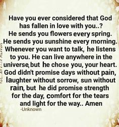 Falling In Love, Listening To You, Laughter, Have You Ever, Weird Facts, Word Of Faith, God, Christianity, Thoughts