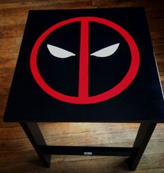 Custom Deadpool Side Table