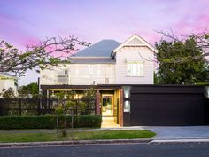 Property Report for 29 Dublin Street, Clayfield QLD 4011 Australian Architecture, Australian Homes, Indoor Outdoor Fireplaces, House Lift, Timber Staircase, Dublin Street, Cottage Renovation, Queenslander, House Paint Exterior