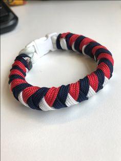 Patriotic Paracord Four Strand Braid Bracelet
