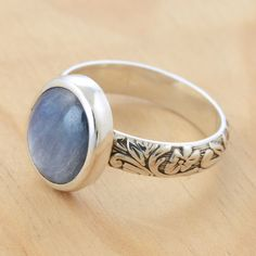 Shimmer Ring with Blue Kyanite