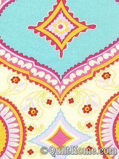 Kumari Garden DF91-Red Fabric by Dena Designs