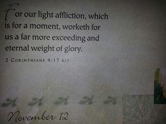 2 Corinthians 4:17 (KJV)