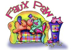 Cartoon art - whimsical dogs and cats by Debby Carman www.fauxpawproductions.com