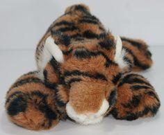Plush Tiger Stuffed Soft  Animal Toy Wildlife Artists Floppy Beans #WildlifeArtists