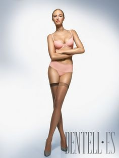 """Wolford Herbst/Winter 2008-2009 - Dessous - """"Riviera"""" and """"Luxe 9"""" stay-up - http://de.dentell.es/fashion/lingerie-12/l/wolford - The last innovation in the collection is the RIVIERA line, with all seven designs coming across as cheeky and playful with bows and lace trims. The new fabric is a bi-elastic, compact woven fabric. The luxurious, high-quality material has a perfectly smooth surface, a paper-like finish and is soft and flexible against the skin. The matt look and a fabric that is…"""