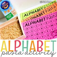 Alphabet Activity – Pasta Letter Matching