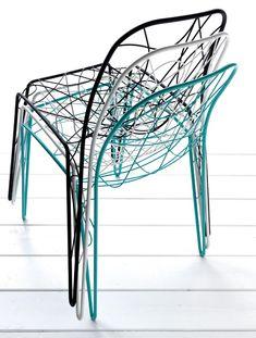 Stackable metal #chair ARIA by Esedra - @Esedra Design by Prospettive  | #design Fabrizio Batoni