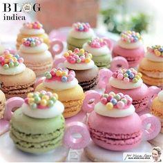 """1,513 Likes, 25 Comments - @cassianedorigon (@ideiasdebolosefestas) on Instagram: """"Que lindossss os macarons decorados que encontrei no Ig  @blogamormaisamor…"""""""