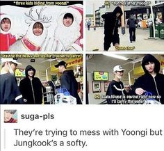 Jungkook's a softy