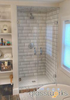 130 best Frameless Shower Doors - Swinging / Hinged images on ... Shower Design House Hardware E A on