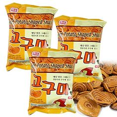 ROM AMERICA  3 Packs  Korean Sweet Potato Shaped Snacks 210g   ** ON SALE Check it Out