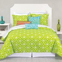 Trina Turk Residential Trellis Lime Comforter Set | Wayfair