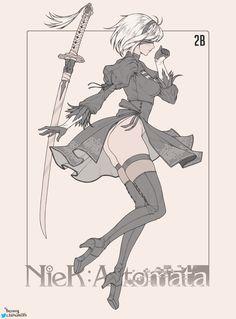 Nier Automata 2B by CHoney