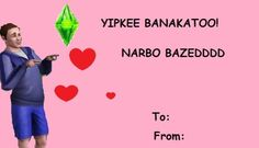 Sims. Funny. Tumblr. Sims3. Valentines. Valentines day. Valentines card. Ecard.
